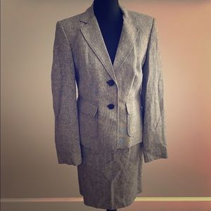 Gray two piece suit